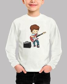 Niño tocando la guitarra