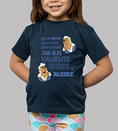 Niño/a, manga corta, azul marino YO DE MAYOR