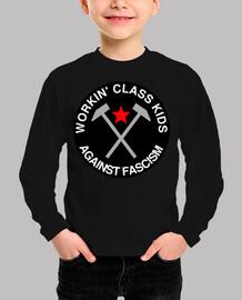 niños de la clase trabajadora contra el