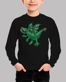 niños dragón verde