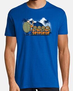 niños ninja de kame camiseta para hombre