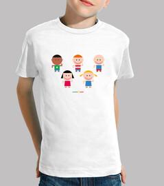 NIÑOS Y NIÑAS JUGANDO - camiseta niños y niñas