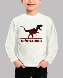 Niñosaurus camiseta manga larga niño para niño dinosaurio