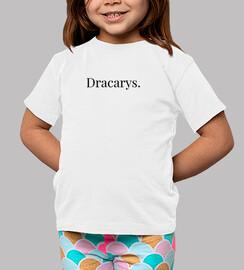 Niño Dracarys, manga corta, blanco