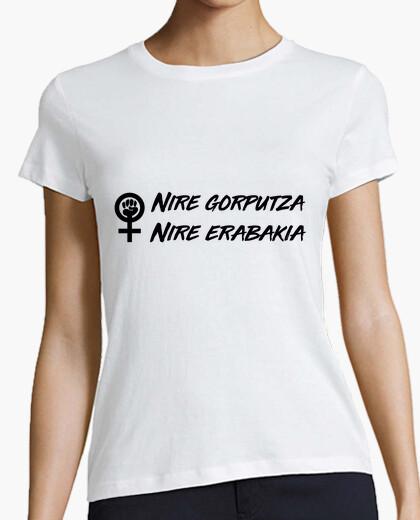 Tee-shirt nire gorputza, nire erabakia (beltza)
