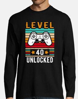 nivel 40 desbloqueado cumpleaños retro
