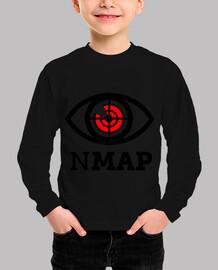 nmap black and red logo