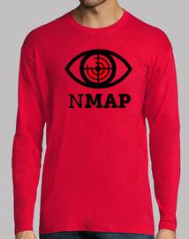 nmap logo noir et rouge