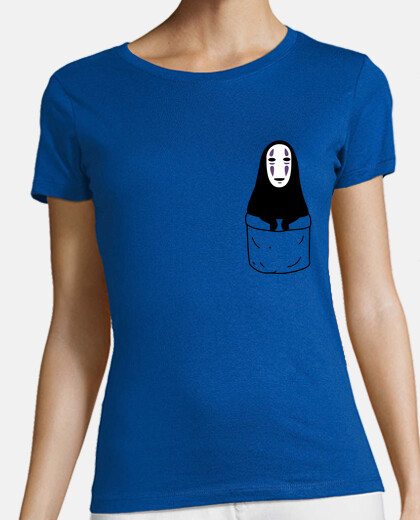 No-face in a pocket camiseta chica