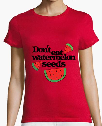 Camiseta no coma semillas de sandía