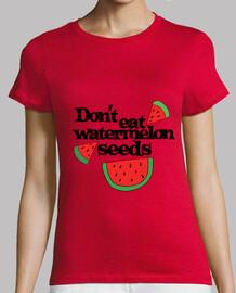 no coma semillas de sandía