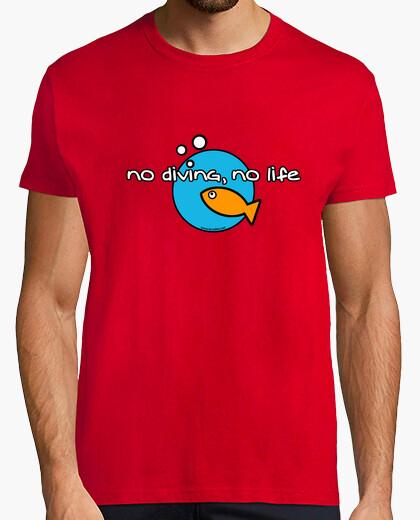 Camiseta No diving, no life Hombre