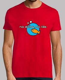 no diving, no life man