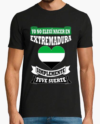 Camiseta No elegí Extremadura, tuve suerte