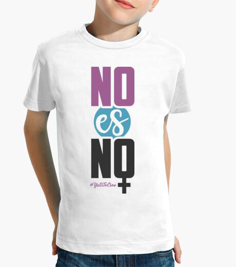 Ropa infantil No Es No (Fondo Claro)