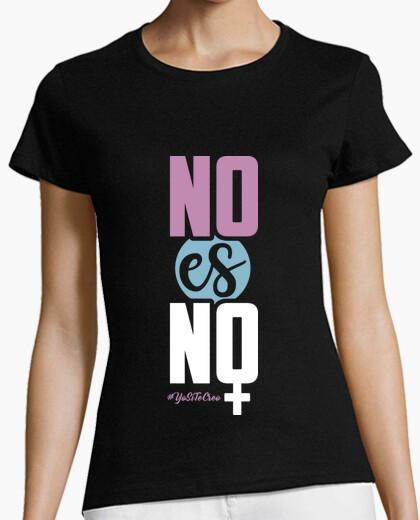 Camiseta No Es No (Fondo Oscuro)