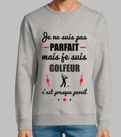 no es perfecto, pero el golfista