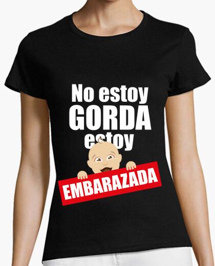 nuevo estilo 1f9f0 3be66 Camiseta No estoy GORDA, estoy EMBARAZADA
