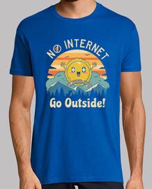 no hay vibraciones de internet! camisa para hombre
