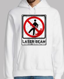 No laser beam.