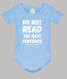 no lea la siguiente frase ...