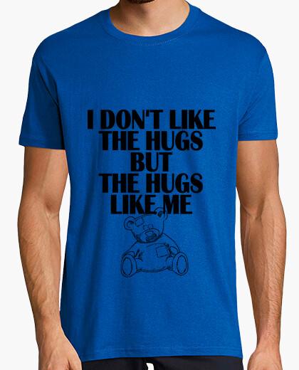 Camiseta no me gusta los abrazos