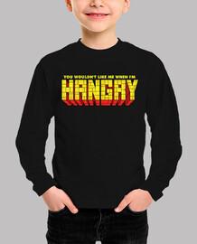 no me gustarías cuando yo fuera hangry