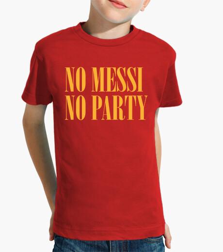 Ropa infantil No Messi No Party (Camiseta Niño)