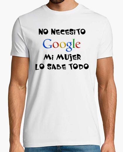 Camiseta No necesito Google