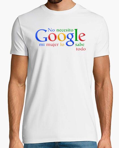 Camiseta No necesito Google mi mujer lo sabe todo