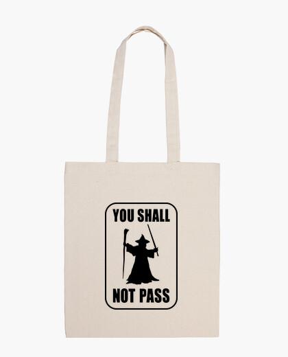No passing! bag