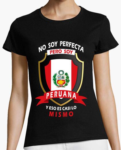 Camiseta No perfecta, soy Peruana Mujer