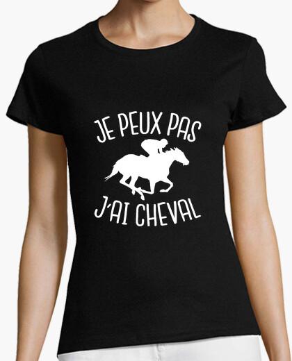 Camiseta no puedo caballo i