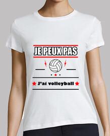 No puedo tener voleibol