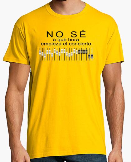 Camiseta No sé a qué hora empieza el concierto (frontal)