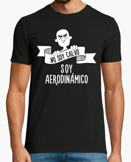 Camiseta No soy Calvo, Soy Aerodinámico (Fondo Oscuro)