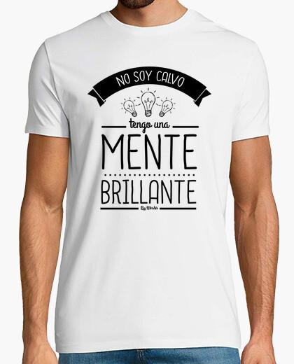 Camiseta No soy calvo, tengo una mente brillante