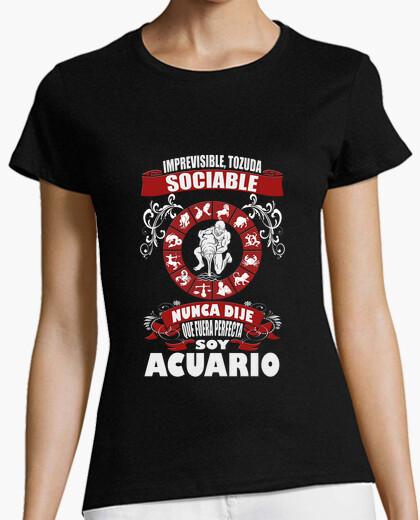 Camiseta No soy perfecta, soy Acuario chica