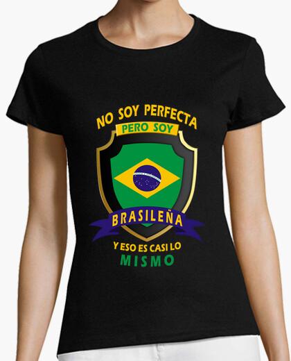 Camiseta No soy perfecta, soy Brasileña chica