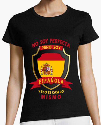 Camiseta No soy perfecta, soy Española chica