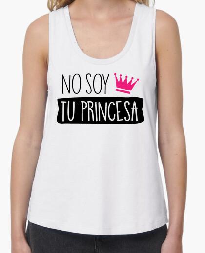 Camiseta No Soy Tu Princesa Mujer (Fondo Claro)