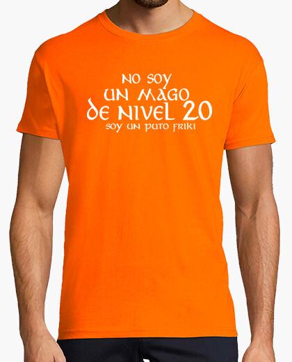 Camiseta NO SOY UN MAGO DE NIVEL 20 © SetaLoca