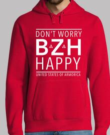 no te preocupes (bzh) feliz - sudadera ligera hombre