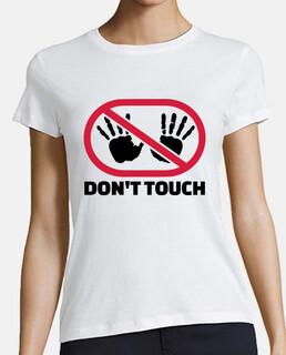 no toques las manos