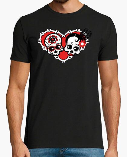 Tee-shirt noir amour mort