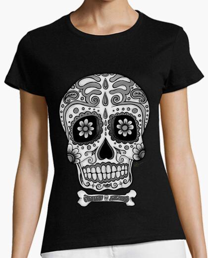 Tee-shirt noir and blanc  tête de mort  mexicain !!!