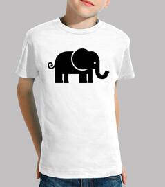 noir éléphant comique