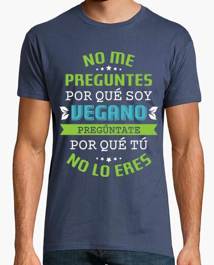 T-shirt non mi chiedere per che sono vegano