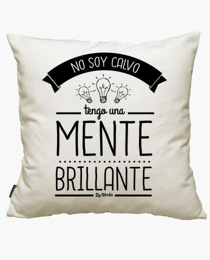 Fodera cuscino non sono calva, ho una mente brillante