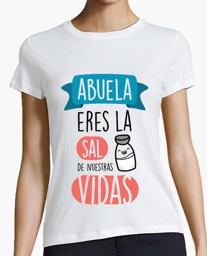 T-shirt nonna sei il sale delle nostre vite, sfondo chiaro